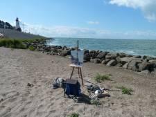Internationale kunstenaars schilderen op Pittoresk Urk