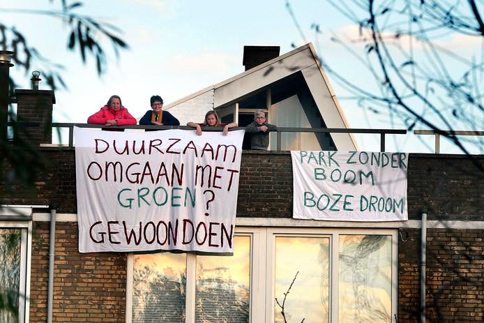Omwonenden kwamen eerder al in opstand tegen de renovatie van het Peulenpark.