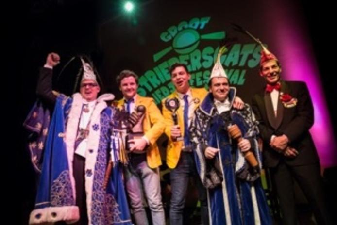 Het Groot Striepersgats Liedjesfestival in Valkenswaard is gewonnen door 'De Strieperschatjes'.