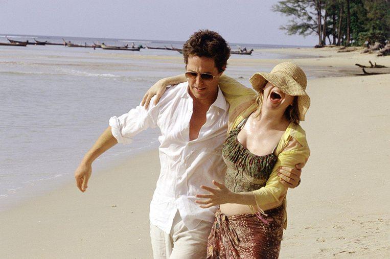 Hugh Grant en Renée Zellweger in Bridget Jones The Edge of Reason. Beeld