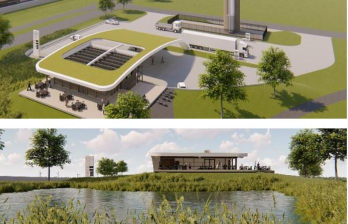 Impressies van het nieuwe tankstation bij Echteld
