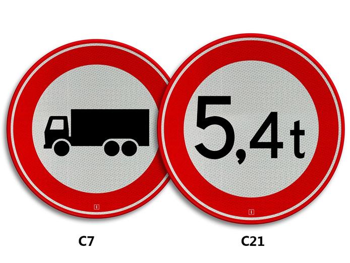 Bord C7 en C21.