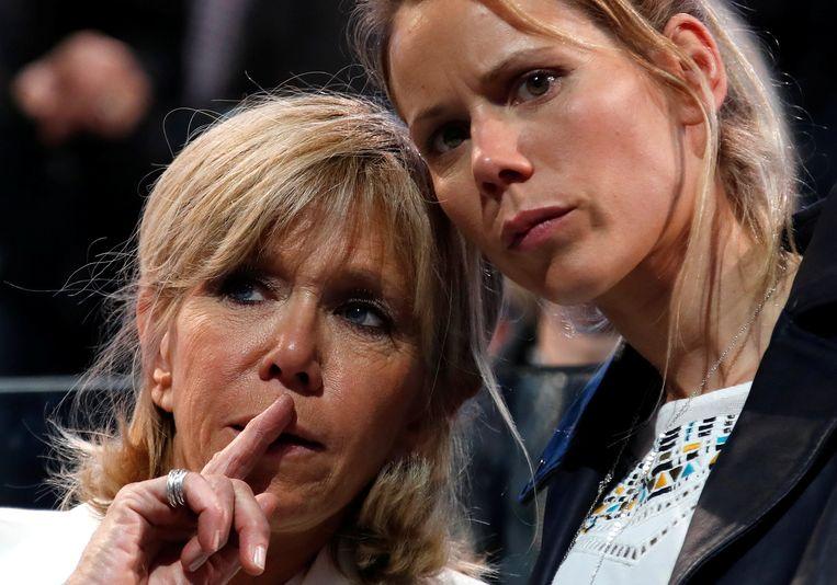 Brigitte Trogneux met haar dochter Tiphaine.