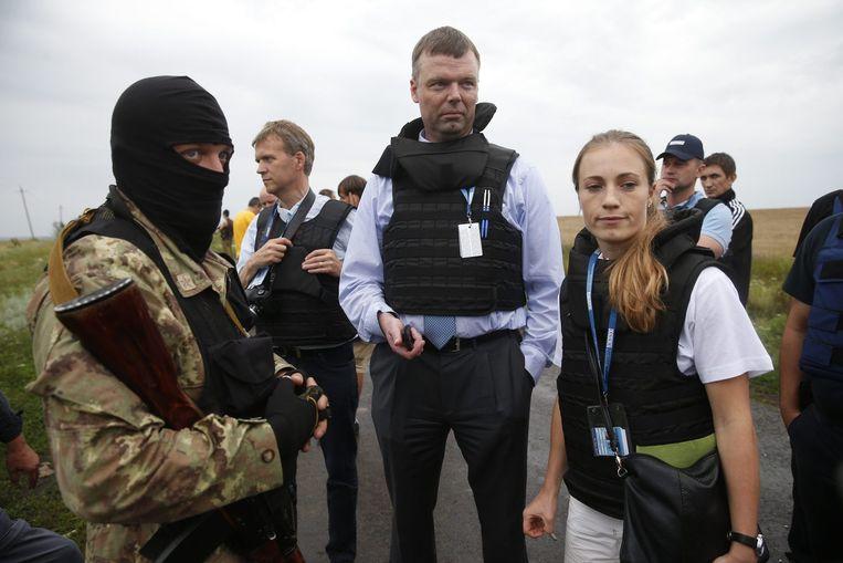 Internationale waarnemers van OVSE.