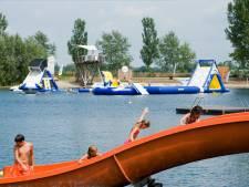 Waarschuwing: gevaar bij zwemmen Beldert Beach en Eiland van Maurik