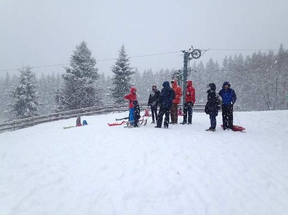 Voor sneeuw kan je onder meer in Baraque Fraiture terecht.