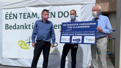 Grootste Cadeaubon van Vlaanderen schenkt meer dan 8.000 euro aan Sint-Trudo Ziekenhuis