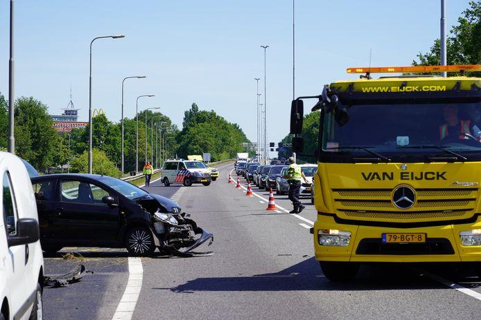 Ongeval op A27 bij Oosterhout