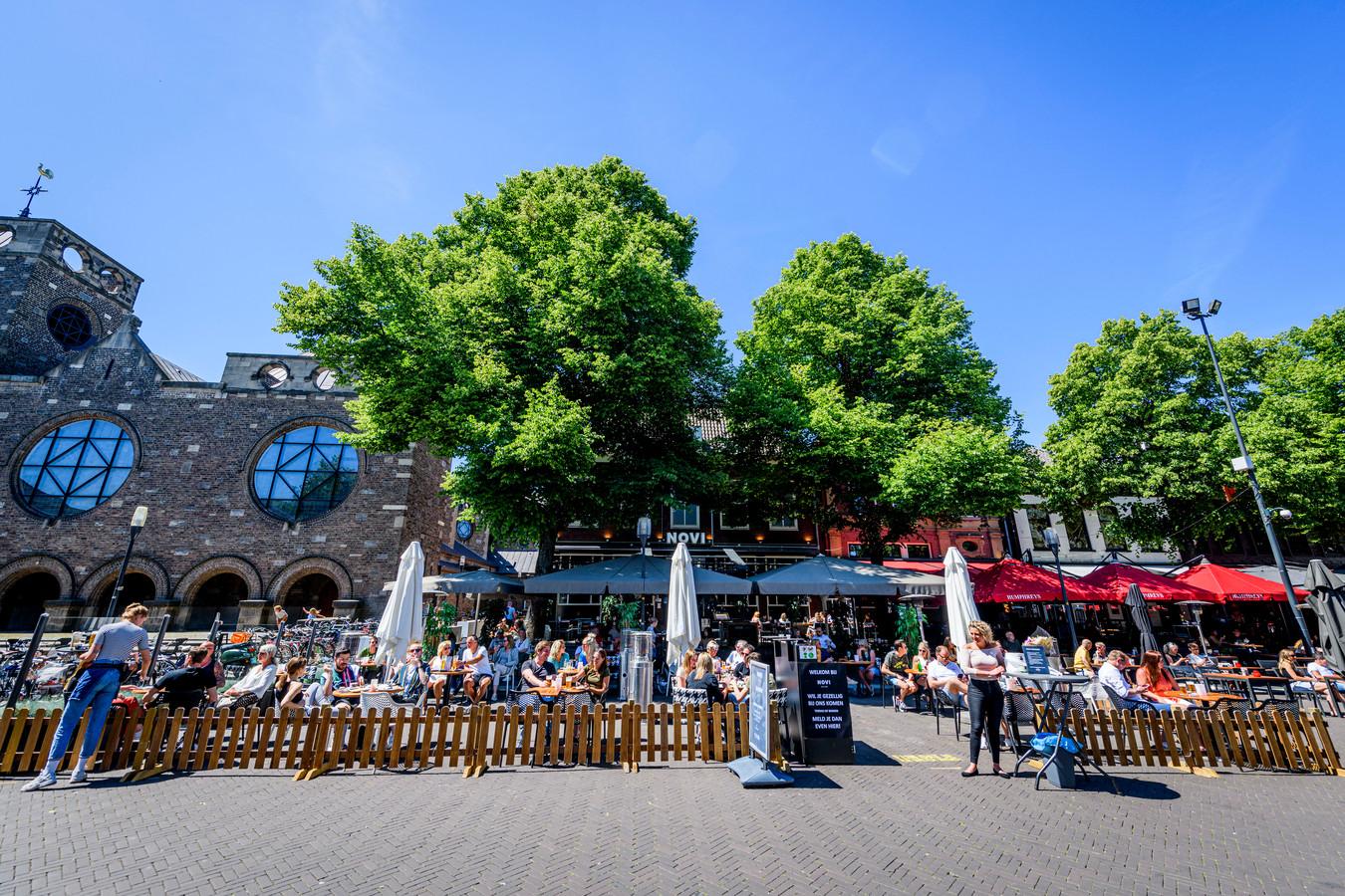 Het was gezellig druk op de terrassen in Enschede