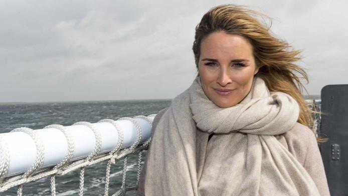 Lieke van Lexmond tijdens de castpresentatie van de nieuwe epische avonturenfilm Michiel de Ruyter