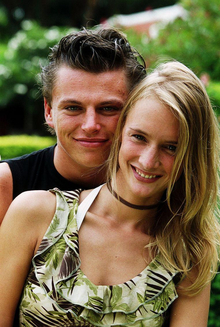 Tim en zijn toenmalige vriendin Katrien, met wie hij in 2002 deelnam aan Temptation Island.