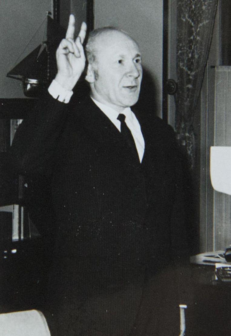Albert Sansen bij zijn eedaflegging in 1970.