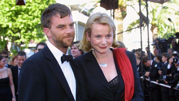 Paul Thomas Anderson met actrice Emily Watson op de rode loper. Beeld afp