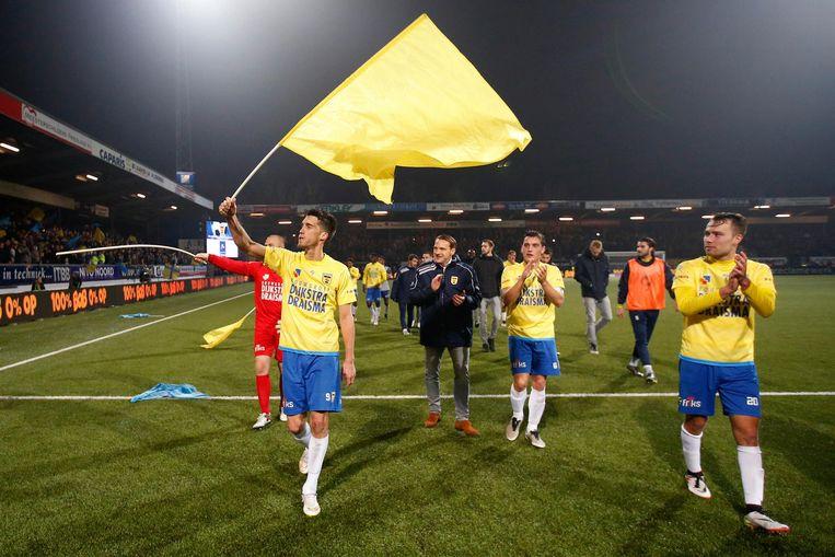 Vorig seizoen versloeg Cambuur Leeuwarden Ajax in de KNVB-beker. Een stunt tegen AZ donderdagavond is zeker mogelijk. Beeld anp