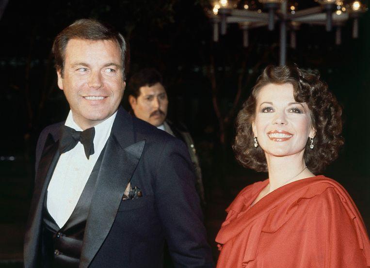 Actrice Natalie Wood en haar man Robert Wagner bij de uitreiking van de Oscars in 1978. Beeld AP