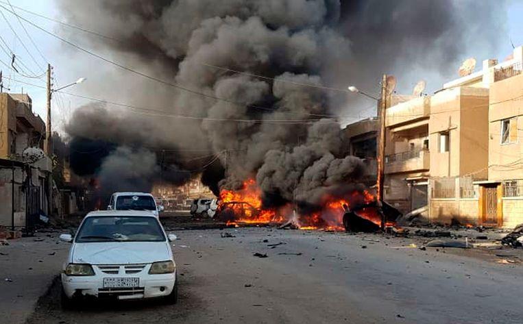 Mohammed Yusef Hussein (11) stierf in de Syrische grensstad Qamishli door een Turks bombardement.