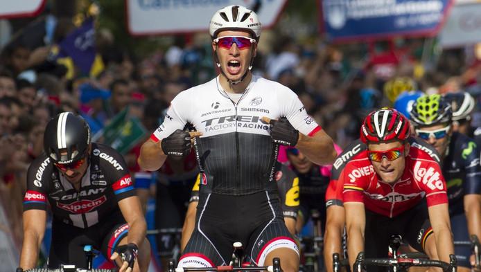 Danny van Poppel won de 12de etappe van de Vuelta.