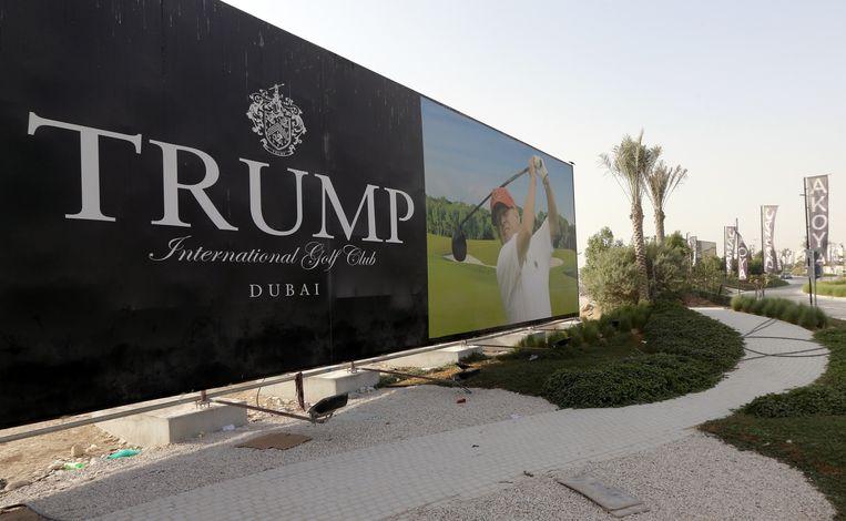 Het reclamebord op een archieffoto. Beeld AFP