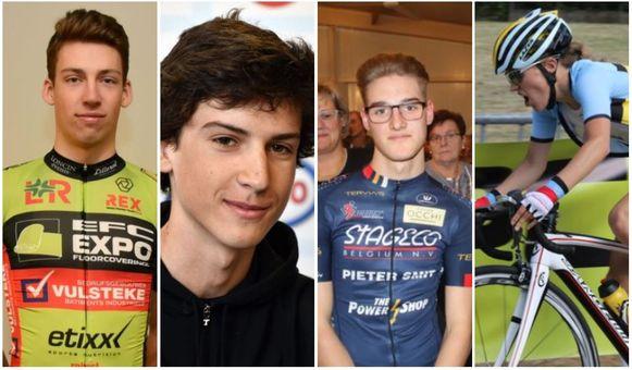 Van l naar r: Aaron Van der Beken, Henri Vandenabeele, Tom Geysegoms en Ellen Feytens.