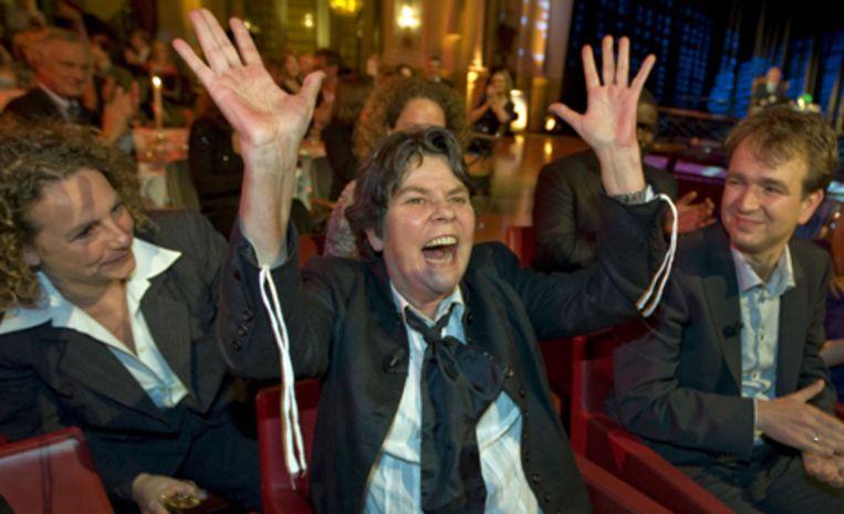 Doeschka Meijsing heeft de AKO Literatuurprijs 2008 gewonnen met haar roman Over de Liefde. Foto ANP/Ed Oudenaarden Beeld