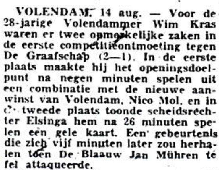 De Volkskrant, 14 augustus 1972 Beeld Archief