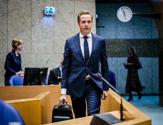 Hugo de Jonge, minister van Volksgezondheid, Welzijn en Sport, tijdens het Tweede Kamerdebat over de ontwikkelingen rondom het coronavirus.