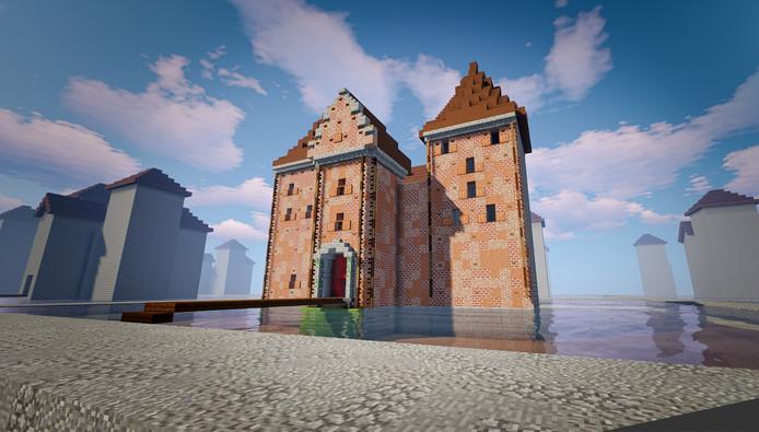 GeoFort en Slot Loevestein dagen kinderen uit om in het populaire computerspel Minecraft hun eigen kasteel te bouwen.