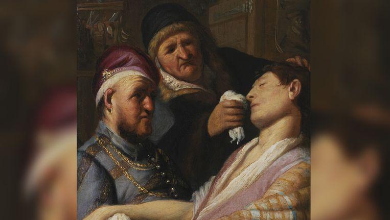 'De flauwgevallen patient (De reuk)' van Rembrandt. Beeld I-GRAT 2006 LLC/TEFAF