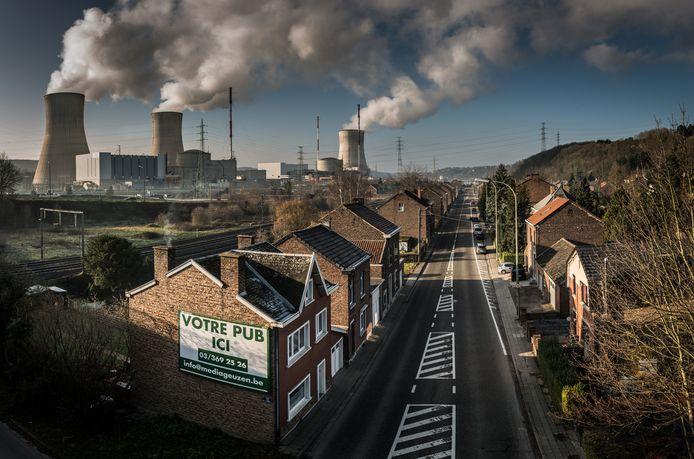 De kerncentrale van Tihange bij Hoei.
