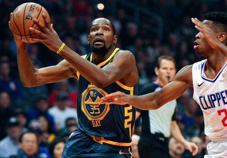 Kevin Durant kon de nederlaag voor de Warriors niet vermijden.