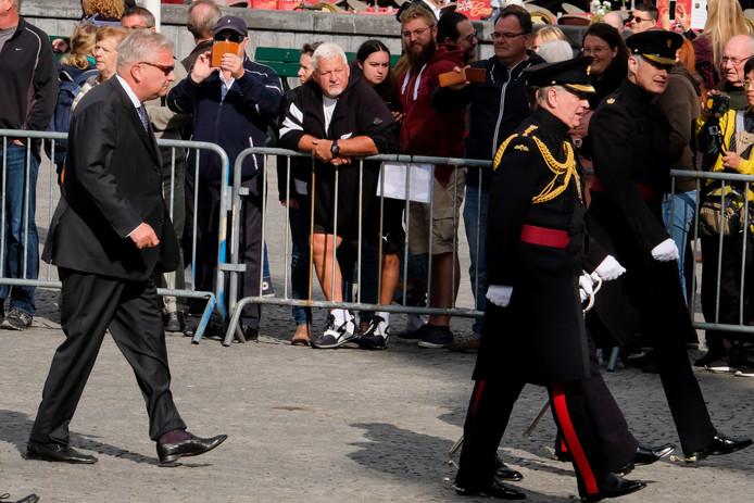 Prins Laurent was in Brugge voor de herdenking van 75 jaar Bevrijding.