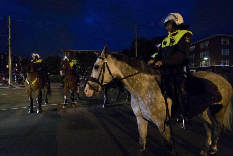 Politie houdt toezicht op het Jonckbloetplein in Den Haag Beeld anp