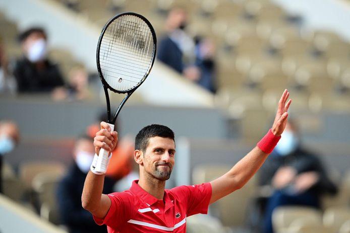 Novak Djokovic was snel klaar met Ricardas Berankis.