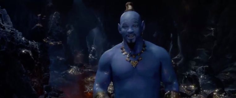 Will Smith als Geest in 'Aladdin'.