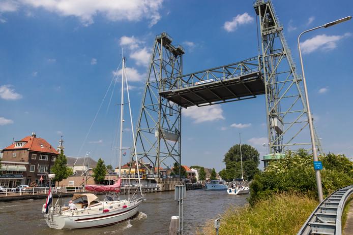De hefbrug in Waddinxveen.
