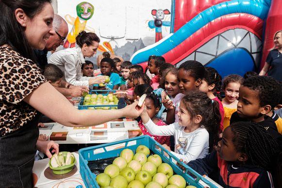De kinderen van basisschool De Hoeksteen kregen al een voorsmaakje.
