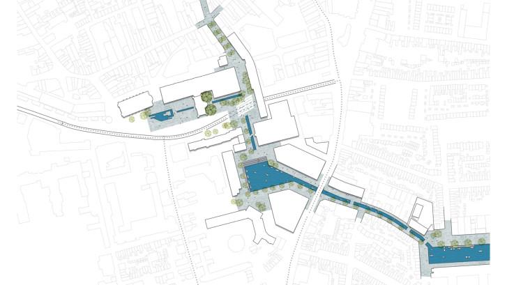 Dit zijn de drie extreme opties voor het Koningsplein en Stadskwartier: 'Dak eraf en parkeergarage vol water'