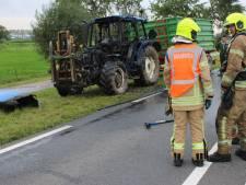 Brandende tractor zorgt voor overlast op N218 bij Zwartewaal