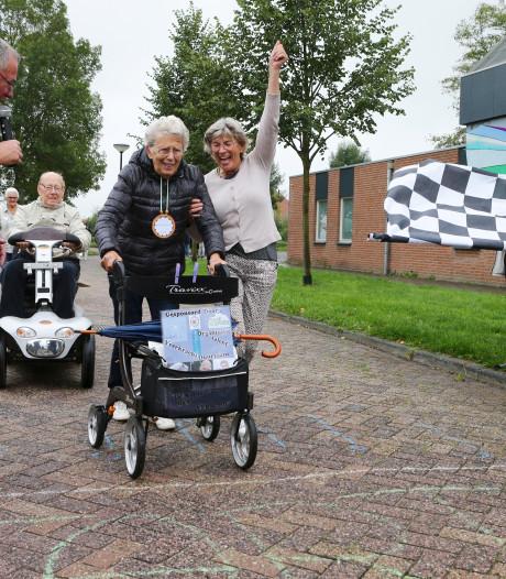 Alle remmen los bij rollatorrace Almkerk