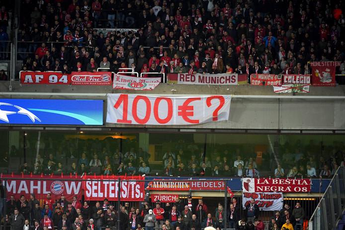 De supporters van Bayern München bij de uitwedstrijd bij Anderlecht.