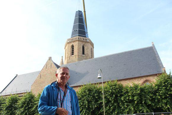 André Van Damme (73) is gelukkig dat de Sint-Niklaaskerk opnieuw een toren heeft.