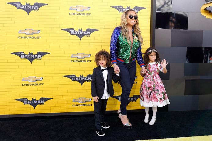 Mariah Carey et ses jumeaux Morocco et Monroe.