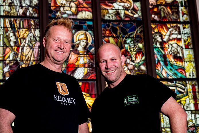 Patrick Leferink (links) en Joost Jansen, de mannen achter Tempelpop. Leferink: ,,Tempelpop moet een blijvertje worden in het voorjaar.''