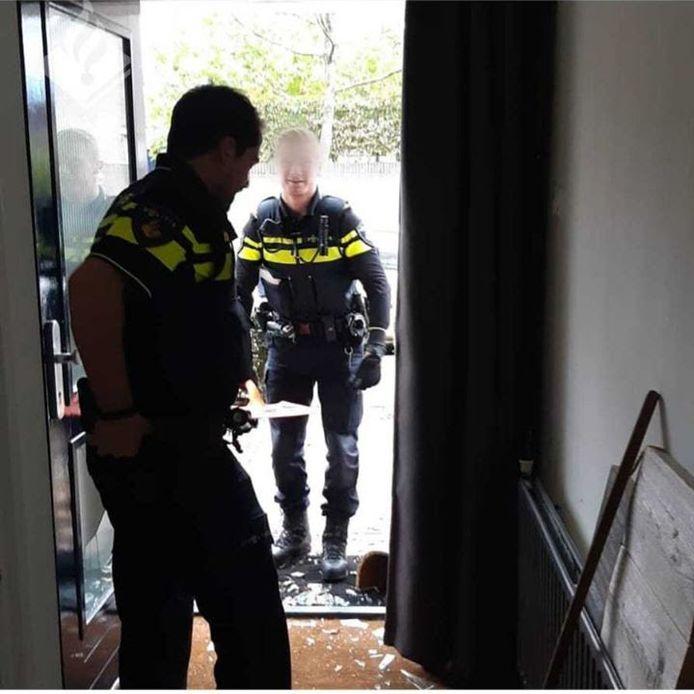 De politie moest eraan te pas komen om de deur, die door de peuter op slot was gedaan, op te maken in Valkenswaard.