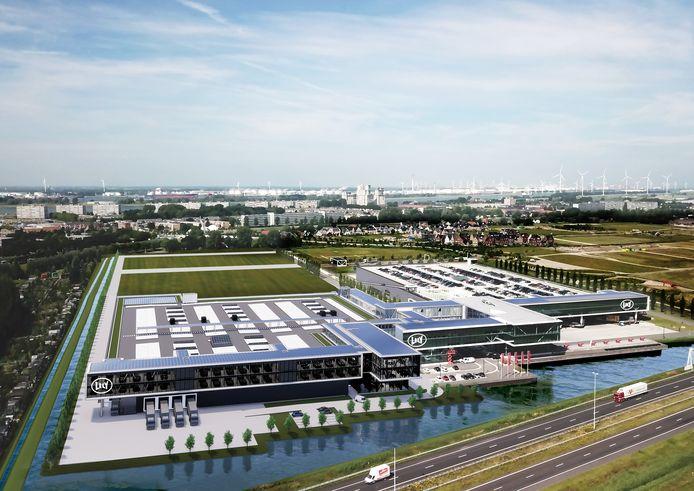 Een impressie van de toekomstige Lely Campus in Maassluis.