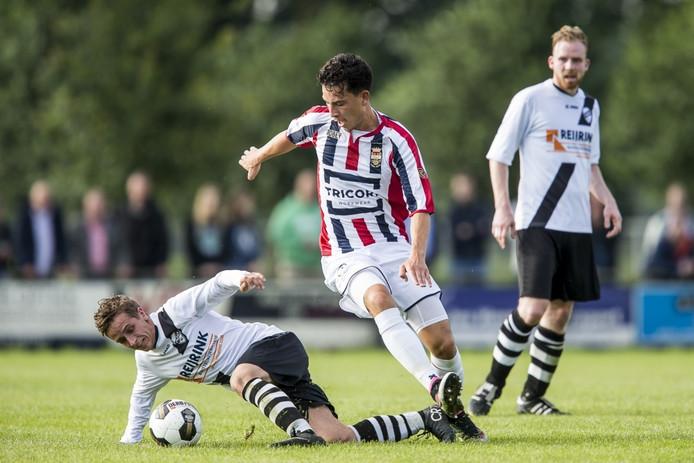 Thom Haye scoorde vier keer voor Willem II tegen de Diessense selectie.