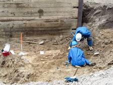 Eeuwenoud skelet gevonden in centrum Arnhem