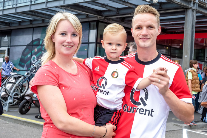 Janna Wielstra (25), Hans Roan (2,5) en Doede Wielstra (29).