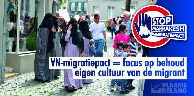 Vlaams Belang nam de foto's en slogans van de N-VA-campagne volledig over.