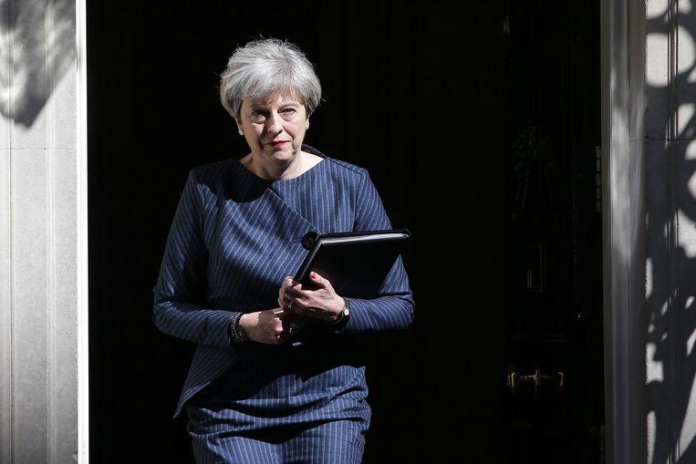 Theresa May stond al eerder tegenover Tim Farron in lokale verkiezingen. Beeld null